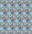 seamless pattern with deers and snowflakes vector image vector image