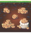 set coins feed fox gui match 3 vector image vector image
