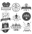 set of circus and carnival labels in vector image