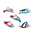 set real estate icons vector image