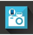 smartphone camera social network media icon vector image vector image