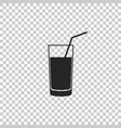 soft drink icon isolated on transparent background vector image