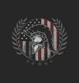 sparta helmet emblem symbol brave fighter vector image vector image