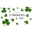 st patricks day greetings card vector image