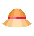 Summer Hat Isolated on White Background vector image vector image
