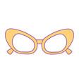 sunglasses frame fashion accessory cartoon vector image vector image