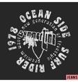 Surfing vintage stamp vector image vector image