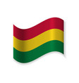 the flag of bolivia vector image vector image