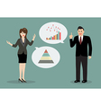 Two business people discussing about financial vector image vector image