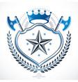 vintage award design vintage heraldic coat of vector image vector image