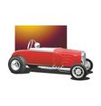 vintage drag car vector image vector image