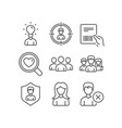woman search love and headhunting icons parcel vector image