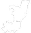 Black White Congo Outline Map vector image
