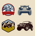 Jeep Emblems With Mountains vector image