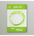 Abstract Green Rings Book Template vector image vector image