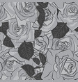 beautiful black gray and white rose flower vector image vector image