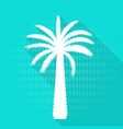 beautiful blue and white palm tree leaf silhouette vector image vector image