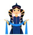 beautiful mongolian woman vector image vector image