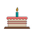 birthday cake with candle icon image vector image vector image