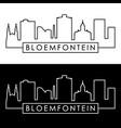 bloemfontein skyline linear style editable file vector image