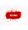 bright red blood grunge splashes on rice paper vector image vector image