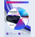business brochure cover design template abstract vector image