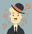 Businessman with Question mark symbol vector image vector image
