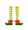 christmas elf feet flat pixie vector image