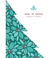 christmas holly berries tree silhouette vector image