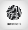circle fingerprint icon design for application vector image vector image