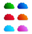 Cloud labels vector | Price: 1 Credit (USD $1)