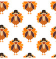 corona thanksgiving turkey seamless pattern vector image vector image