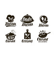 cuisine cooking logo or label set badges vector image vector image