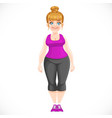 cute blond fat girl in process losing weight vector image