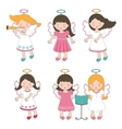 Cute little angels vector image