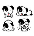 dogies like isolated puppies show their thumbs up vector image