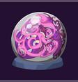 empty globe magic ball sphere glass light vector image vector image