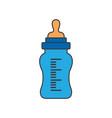 feeding bottle or baby bottle vector image