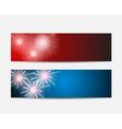 Glossy Fireworks Website Header and Banner Set vector image vector image
