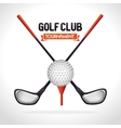 golf tournament design vector image vector image