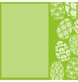 Green Easter Frame vector image vector image
