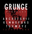 grunge alphabet 011 vector image vector image