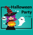 halloween background with halloween party text vector image vector image