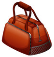 handbag in brown color vector image vector image