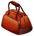 handbag in brown color vector image vector image