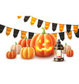 happy halloween pumpkin jack lanterns gourd vector image vector image