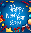 happy new year 2019 card vector image vector image