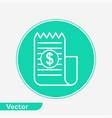 invoice icon sign symbol vector image