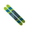 Isolated skiis of winter sport design vector image vector image