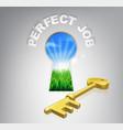 key to perfect job vector image